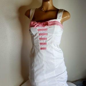 Betsey Johnson pink & white sailor pin up dress 4